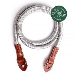 Silver grey nylon rope camera strap by the ronen strap