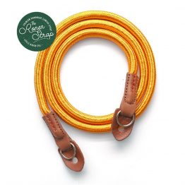 Orange Gold Handmade Nylon Rope Camera Strap