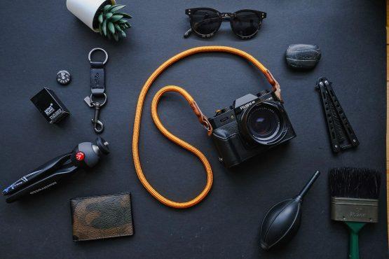 Orange Gold Handmade Nylon Rope Camera Strap