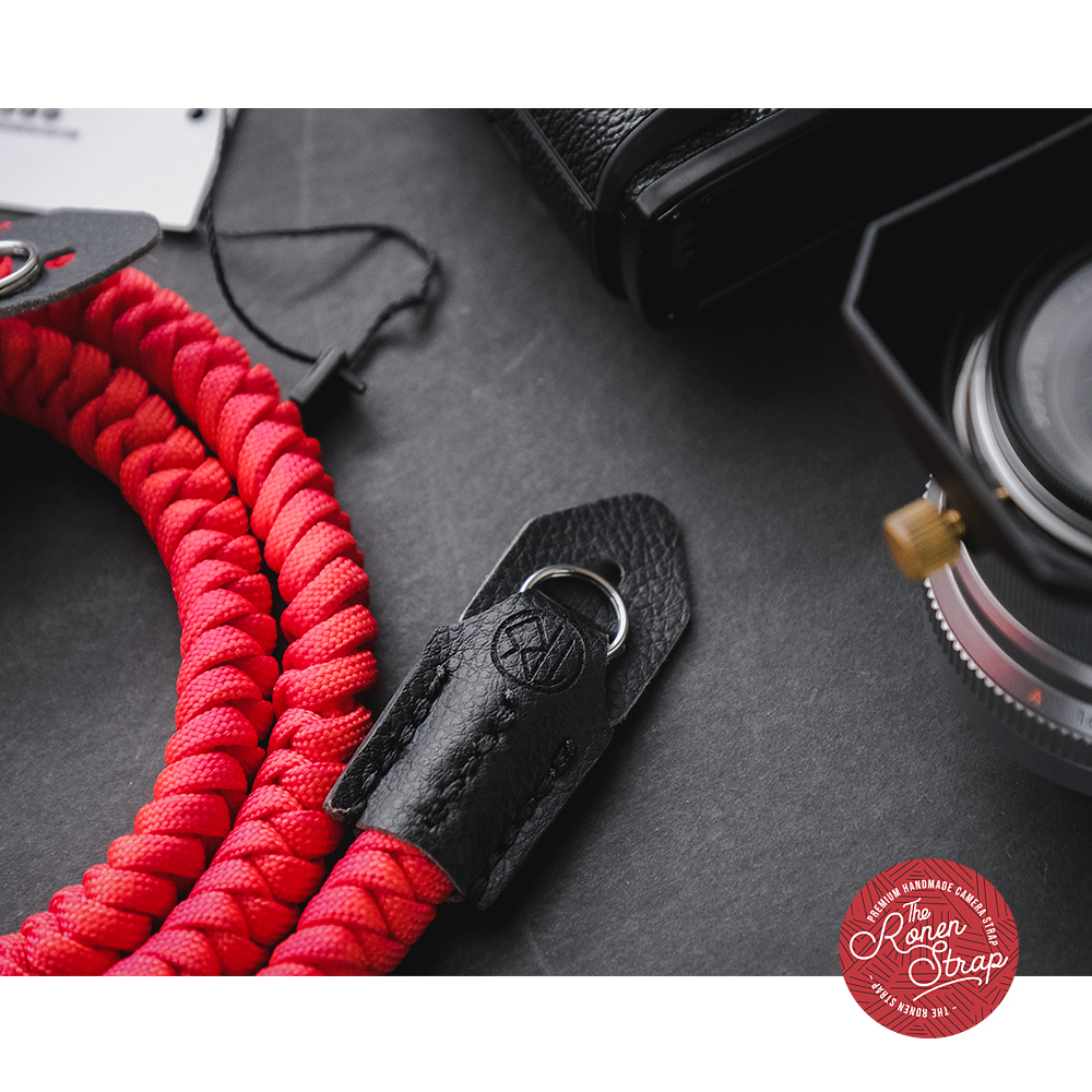 The Ronen Strap - Red Ular series (handmade paracord camera strap)