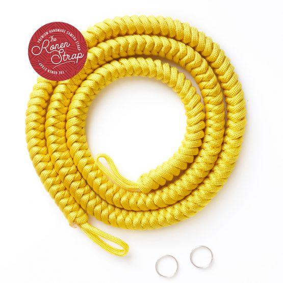 The ronen strap - yellow handmade paracode camera strap